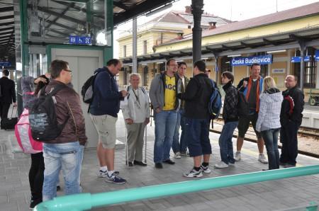 Na nádraží v Č. Budějovicích