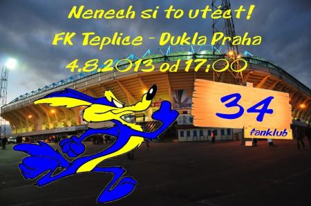 Fanděte s Fanklubem v utkání FK Teplice - Dukla Praha